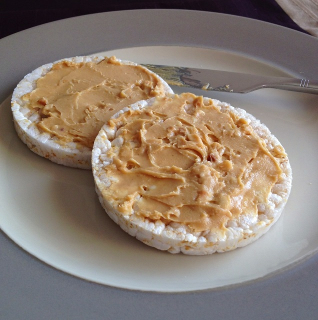 Rice Cakes and Peanut Butter
