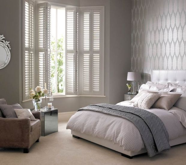 Thomas Sanderson bay window shutters